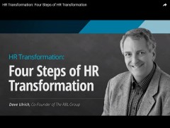 HR Transformation: Four Steps of HR Transformation